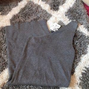 NWT Zara grey one shoulder dress